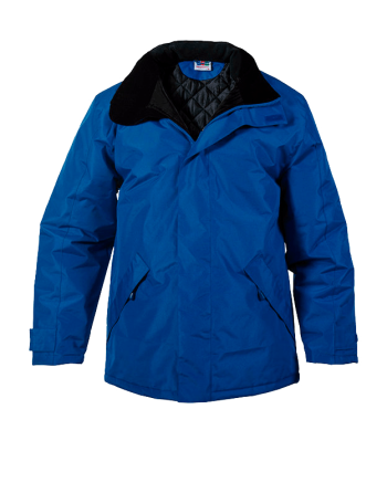 Parka personalizable bordado azul royal