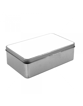 Caja de metal rectangular